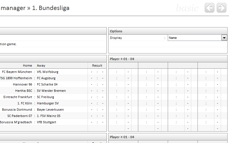 League Manager • Excel-Soccer